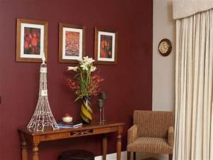 Dark red and White interior - Inspirations Paint