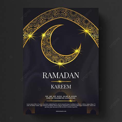 golden islam ramadan moon flyer template