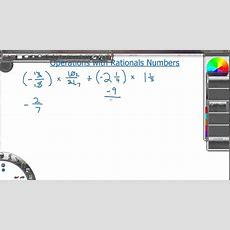 Operations With Rational Numbers Youtube
