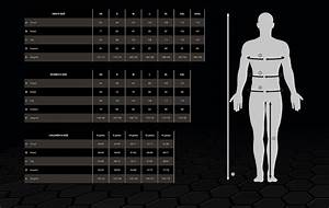 Size Chart For Select Clothing