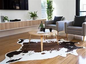 Mocka Faux Cowhide Rug Living Room Decor