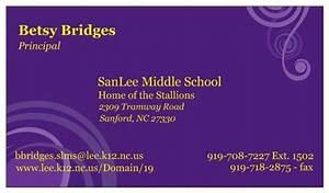 Business Card Calendar 2020 Mrs Bridges Principal Contact Mrs Bridges