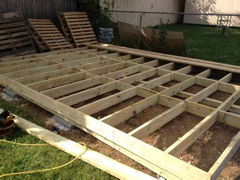 Free Standing Deck Framing by Deck Framing