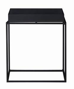 Tray coffee table square h 40 cm 40 x 40 cm black by hay for 40 x 40 square coffee table