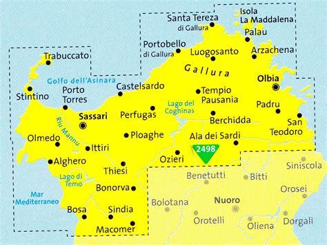 Carte Nord De La by Carte Sardaigne Nord