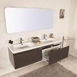 Mobile Bagno Sospeso Moderno 150 Cm  Doppio Lavabo