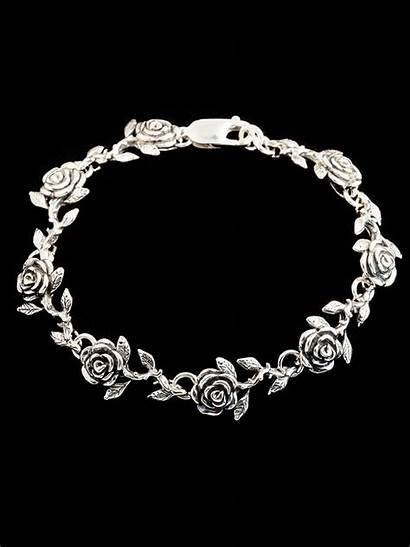 Bracelet Rose Flower Jewelry Magic Required Sterling