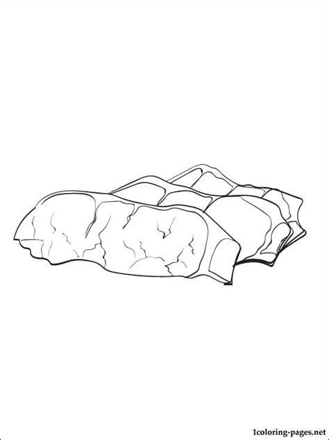 bacon coloring page coloring pages