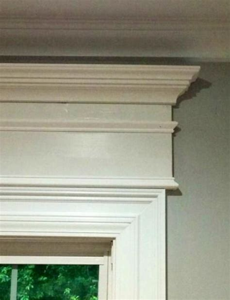 Window Crown Molding by Stacked Stock Molding Above Regular Window Casings And
