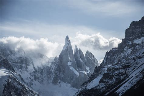 Hd Snowy Mountain Wallpaper 1536x864 Wallpaper Snow Mountains Under White And Blue Cloudy Sky Peakpx