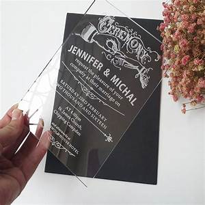 aliexpresscom buy sample order for 57inch classic With wedding invitation clear paper