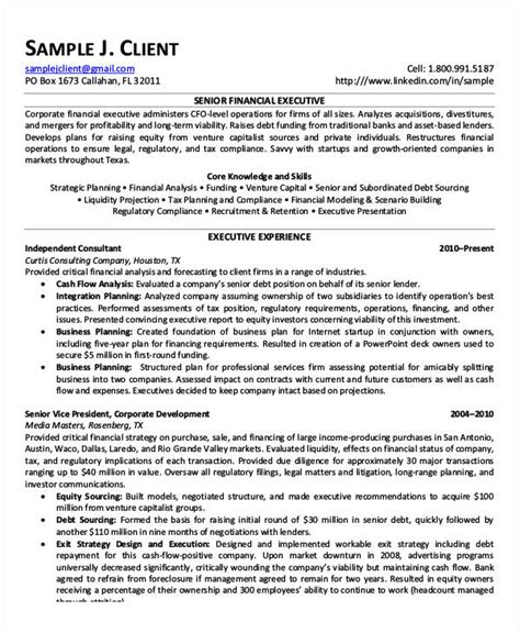 printable executive resume templates