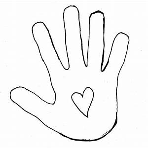 Hand Outline Template Printable | Clipart Panda - Free ...