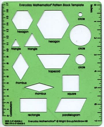 Everyday Math Pattern Block Template by Smiling In Second Grade Geometric Robots