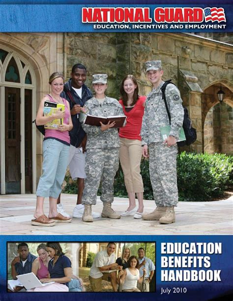 army national guard education benefits booklet  richard