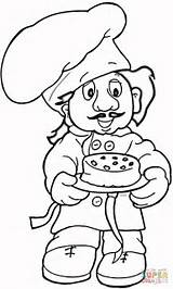 Baker Coloring Printable Baking Profession Coloringpages101 Kleurplaten Supercoloring Cookies Drawing Al Kleurboeken Silhouettes Prints Peoples sketch template