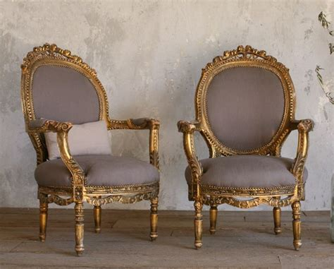Sessel Vintage Stil by Vintage Gilt Louis Xvi Style Carved Armchairs