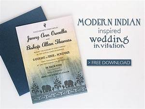 Free diy modern indian wedding invitation download print for Modern indian wedding invitations online