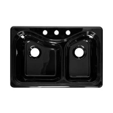 black kitchen sink home depot lyons industries connoisseur top mount acrylic 33 x 22 x 9