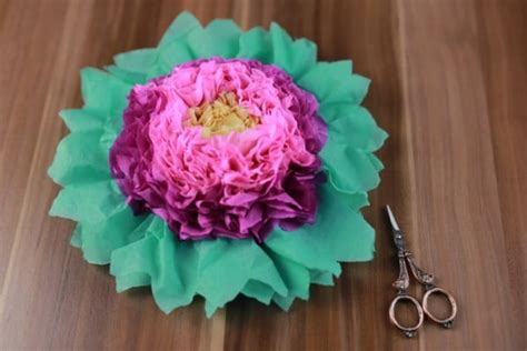 colorful tissue paper flowers diy crafts