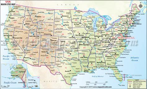 buy usa wall map  major cities