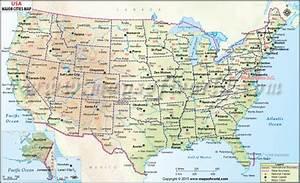 Buy USA Wall Map with Major Cities