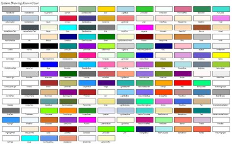 color system wpf color table images