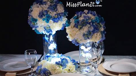 blue wedding centerpiece diy how to create this blue