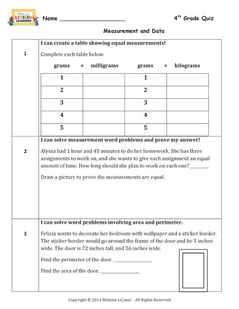 mrs l s leveled learning discrete math worksheets 4th