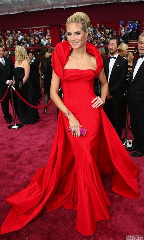 Heidi Klum Red Evening Dress Oscar Academy Awards 2008 Red