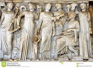 Bas-relief Of Ancient Roman Gods Stock Photo - Image of ...