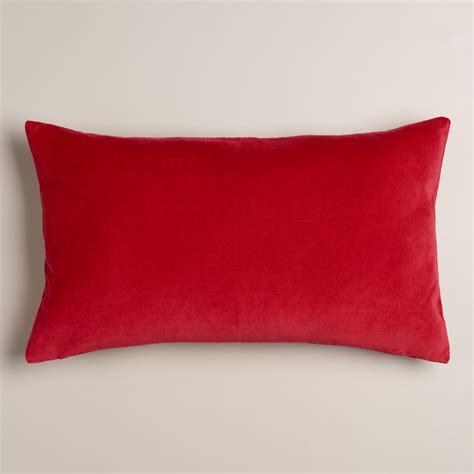 world market pillows chrysanthemum coral velvet lumbar pillow world market