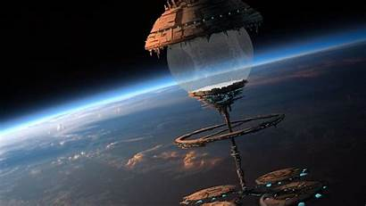 Space Fantasy Wallpapers Station Stations Sci Fi