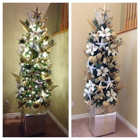 how to fix christmas tree branches how to make a small tree look bigger on the cheap put it on top of a sturdy base i