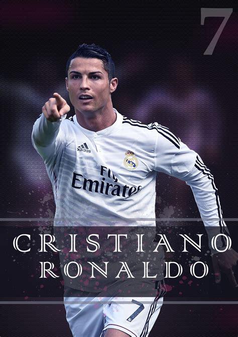 cristiano ronaldo poster paper print sports pop art