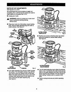 Manual For Craftsman Router 315 25060
