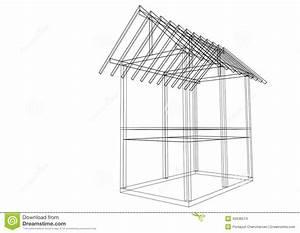 ma maison de structure de toit de dessin d39illustration With toit de maison dessin