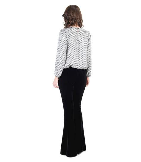Elastic velvet flared pants elegant outfit - YOKKO