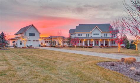 Colonial Style Home On 10 Acres In Eagle, Idaho   Homes of