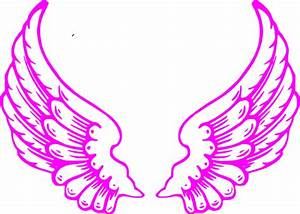 Pink Guardian Angel Wings Clip Art at Clker.com - vector ...