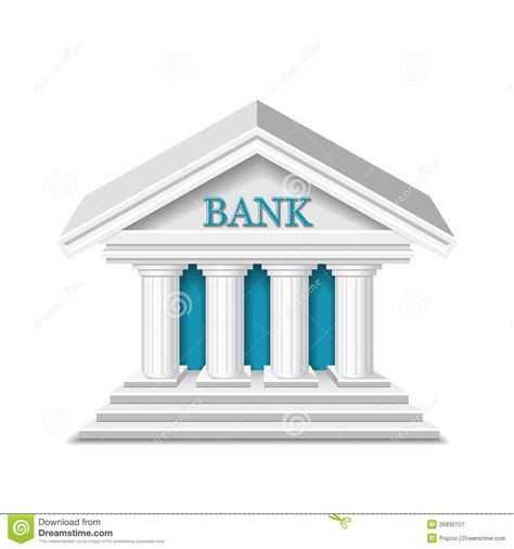 Banco Stock Bank Vector Stock Image Image 26830151