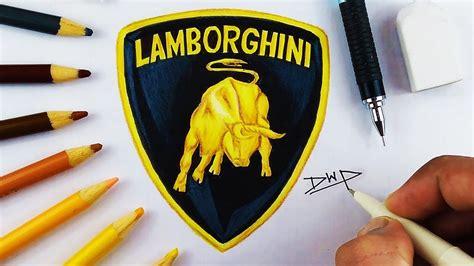 cartoon lamborghini logo how to draw a lamborghini logo www pixshark com images