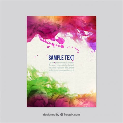 Colorful Flyer Psd Template Free Download by Colorful Watercolor Flyer Vector Free Download