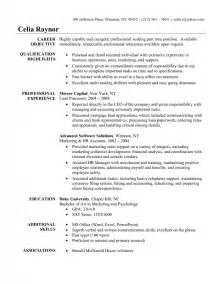 Resume Objective Exle Administrative Assistant by Resume Exle For Administrative Assistant Sles Of Resumes