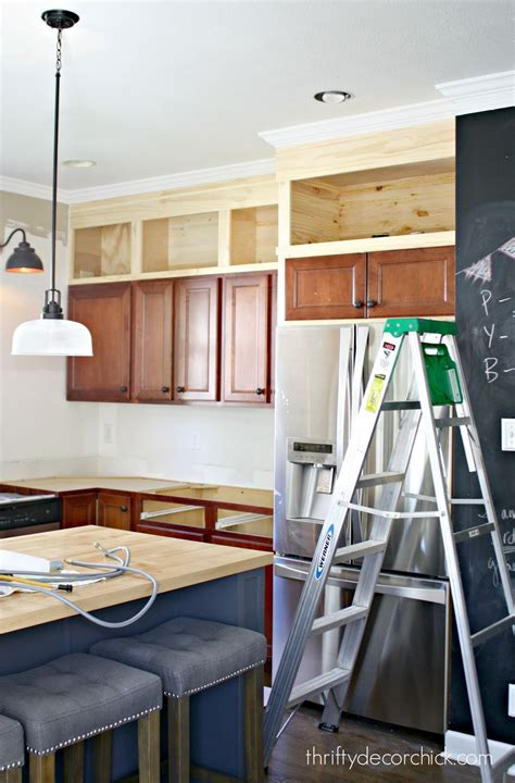 kitchen wall cabinets to ceiling building cabinets up to the ceiling from thrifty decor