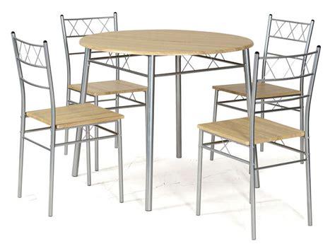 table et chaise de cuisine ensemble table ronde et 4 chaises de cuisine lota coloris