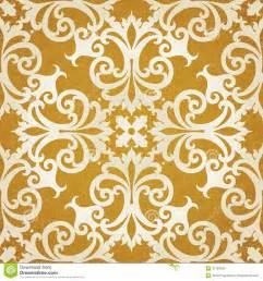 Gold Floral Swirls Vector Patterns