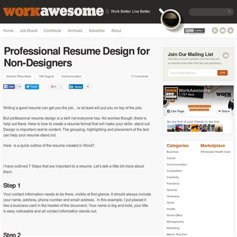 Professional Resume Design For Non Designers by Professional Resume Design For Non Designers Www Imgarcade Image Arcade