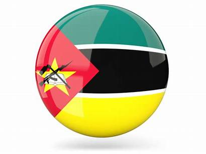 Mozambique Flag Round Icon Glossy Graphics