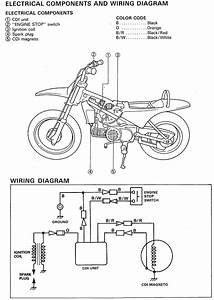 yamaha pw80 wiring diagrams troubleshoot electrical issues With motorcycle wire color codes electrical connection